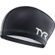 TYR Silicone Comfort Long Hair Swimming Cap black